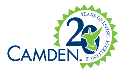 Camden Property Trust 20 years logo